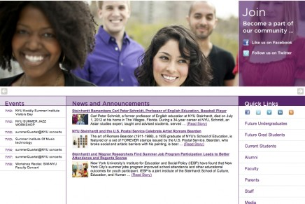 NYU Steinhardt project: perfect blend of commercial and personal