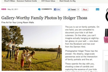 family panoramas written up by daily candy